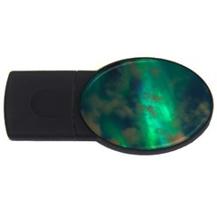 Northern Lights Plasma Sky Usb Flash Drive Oval (2 Gb)