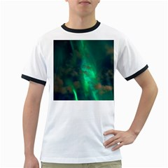 Northern Lights Plasma Sky Ringer T Shirts