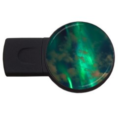 Northern Lights Plasma Sky Usb Flash Drive Round (4 Gb)