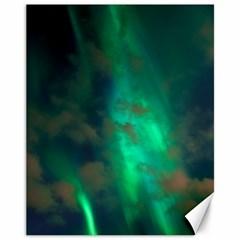 Northern Lights Plasma Sky Canvas 11  X 14