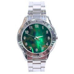 Northern Lights Plasma Sky Stainless Steel Analogue Watch