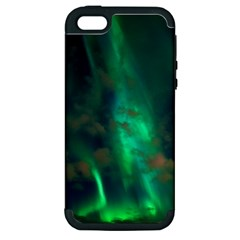 Northern Lights Plasma Sky Apple Iphone 5 Hardshell Case (pc+silicone)