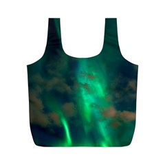 Northern Lights Plasma Sky Full Print Recycle Bags (m)