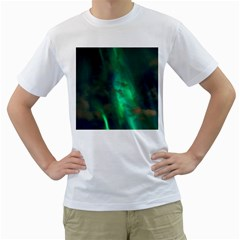Northern Lights Plasma Sky Men s T Shirt (white)