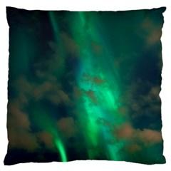 Northern Lights Plasma Sky Standard Flano Cushion Case (two Sides)
