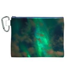 Northern Lights Plasma Sky Canvas Cosmetic Bag (xl)