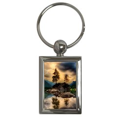 Sunset Dusk Sky Clouds Lightning Key Chains (rectangle)