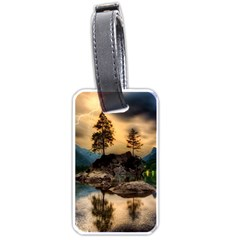 Sunset Dusk Sky Clouds Lightning Luggage Tags (two Sides)