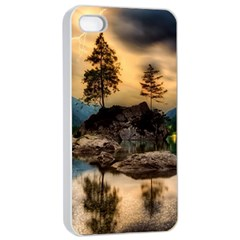 Sunset Dusk Sky Clouds Lightning Apple Iphone 4/4s Seamless Case (white)