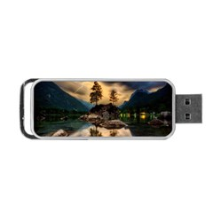Sunset Dusk Sky Clouds Lightning Portable Usb Flash (one Side)