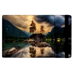 Sunset Dusk Sky Clouds Lightning Apple Ipad 2 Flip Case