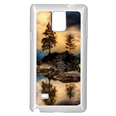 Sunset Dusk Sky Clouds Lightning Samsung Galaxy Note 4 Case (white)