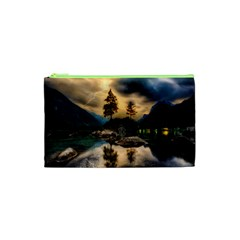 Sunset Dusk Sky Clouds Lightning Cosmetic Bag (xs)