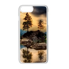 Sunset Dusk Sky Clouds Lightning Apple Iphone 7 Plus Seamless Case (white)