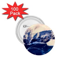 Antarctica Mountains Sunrise Snow 1 75  Buttons (100 Pack)