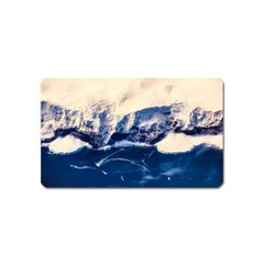 Antarctica Mountains Sunrise Snow Magnet (name Card)