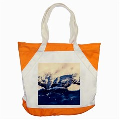 Antarctica Mountains Sunrise Snow Accent Tote Bag
