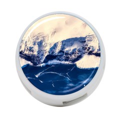 Antarctica Mountains Sunrise Snow 4 Port Usb Hub (one Side)