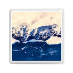 Antarctica Mountains Sunrise Snow Memory Card Reader (square)