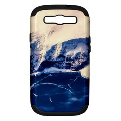 Antarctica Mountains Sunrise Snow Samsung Galaxy S Iii Hardshell Case (pc+silicone)