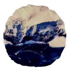 Antarctica Mountains Sunrise Snow Large 18  Premium Round Cushions