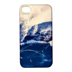 Antarctica Mountains Sunrise Snow Apple Iphone 4/4s Hardshell Case With Stand