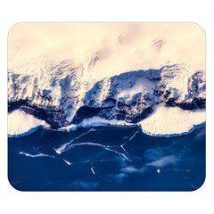 Antarctica Mountains Sunrise Snow Double Sided Flano Blanket (small)