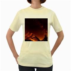Italy Night Evening Stars Women s Yellow T Shirt
