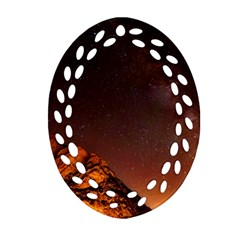 Italy Night Evening Stars Oval Filigree Ornament (two Sides)