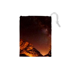 Italy Night Evening Stars Drawstring Pouches (small)