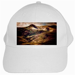 Iceland Mountains Sky Clouds White Cap