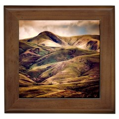 Iceland Mountains Sky Clouds Framed Tiles