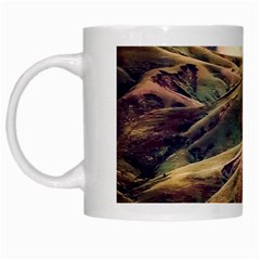 Iceland Mountains Sky Clouds White Mugs