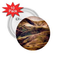 Iceland Mountains Sky Clouds 2 25  Buttons (10 Pack)