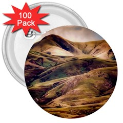 Iceland Mountains Sky Clouds 3  Buttons (100 Pack)
