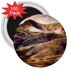 Iceland Mountains Sky Clouds 3  Magnets (100 Pack)