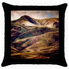Iceland Mountains Sky Clouds Throw Pillow Case (black)