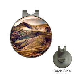 Iceland Mountains Sky Clouds Hat Clips With Golf Markers