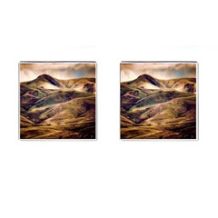 Iceland Mountains Sky Clouds Cufflinks (square)