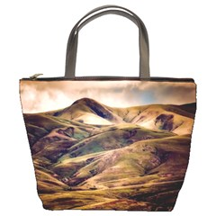 Iceland Mountains Sky Clouds Bucket Bags