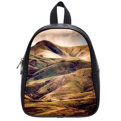 Iceland Mountains Sky Clouds School Bag (small)