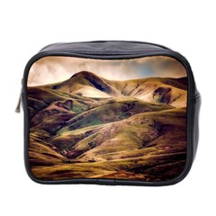 Iceland Mountains Sky Clouds Mini Toiletries Bag 2 Side