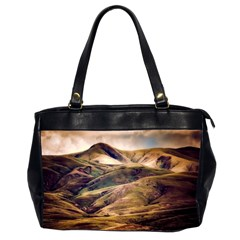 Iceland Mountains Sky Clouds Office Handbags (2 Sides)