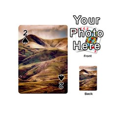 Iceland Mountains Sky Clouds Playing Cards 54 (mini)