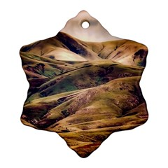 Iceland Mountains Sky Clouds Ornament (snowflake)