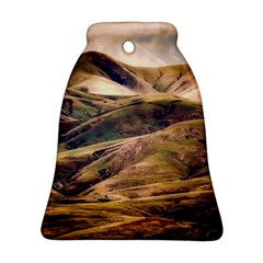 Iceland Mountains Sky Clouds Bell Ornament (two Sides)