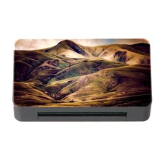 Iceland Mountains Sky Clouds Memory Card Reader With Cf