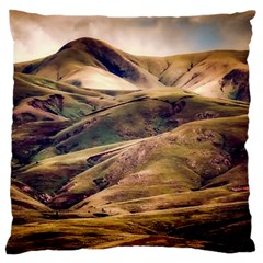 Iceland Mountains Sky Clouds Large Cushion Case (two Sides)