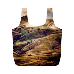 Iceland Mountains Sky Clouds Full Print Recycle Bags (m)