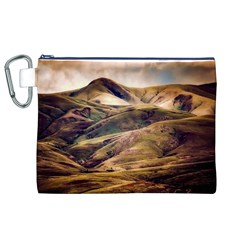 Iceland Mountains Sky Clouds Canvas Cosmetic Bag (xl)